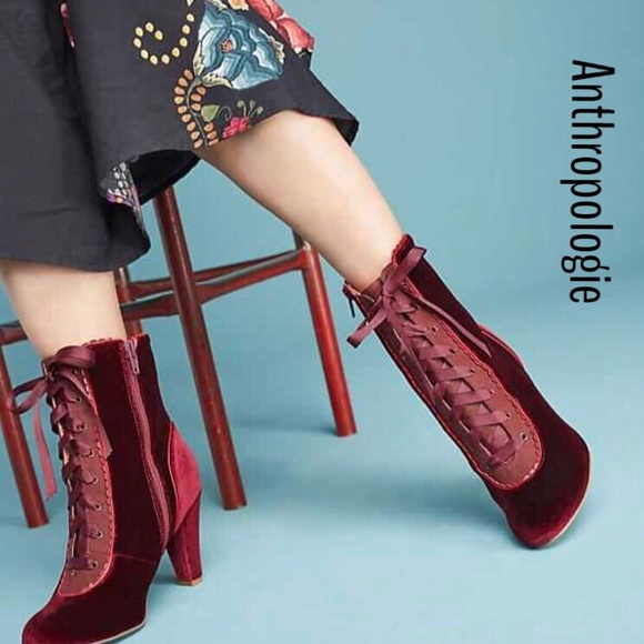 new products for great deals detailed look ANTRO CHELSEA CREW VELVET VICTORIAN BOOTS